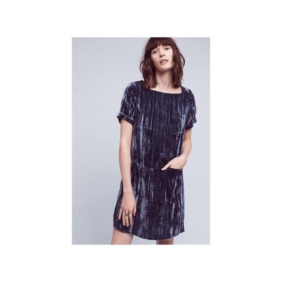 f3f5c39c9cdf Anthropologie Dresses & Skirts - Anthropologie Floreat Crushed Velvet Tunic  Dress